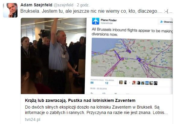 Twitter Adama Szejnfelda /Twitter