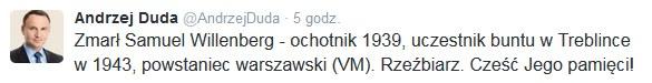 Twitter/Andrzej Duda /Twitter