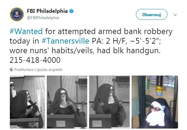 Twitter: FBI publikuje zdjęcia podejrzanych /
