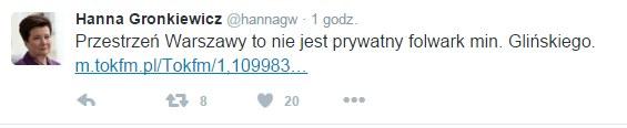 Twitter Hanny Gronkiewicz-Waltz /Twitter