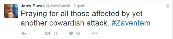 Twitter Jerzego Buzka /Twitter