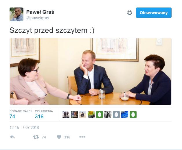 Twitter Pawła Grasia /Twitter