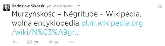 Twitter Radka Sikorskiego /Twitter
