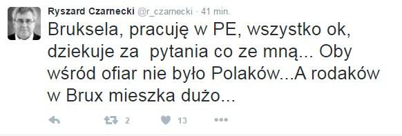 Twitter Ryszarda Czarneckiego /Twitter