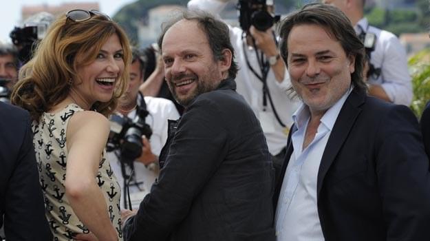 """Twórców filmu """"Podbój"""" nie opuszczało w Cannes poczucie humoru /AFP"""