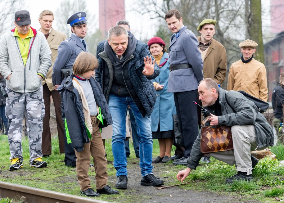 """Twórcy na planie filmu """"Jestem mordercą"""" /PAP/Andrzej Grygiel    /PAP"""