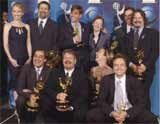 "Twórcy serialu ""Prezydencki poker"" z nagordami Emmy /"