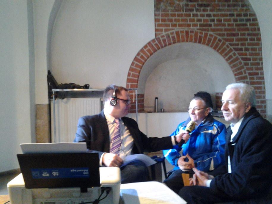 Twórcy Szopki krakowskiej panowie Edward i Marek Markowscy w rozmowie z Bogdanem Zalewskim /Piotr Jackowski /RMF FM