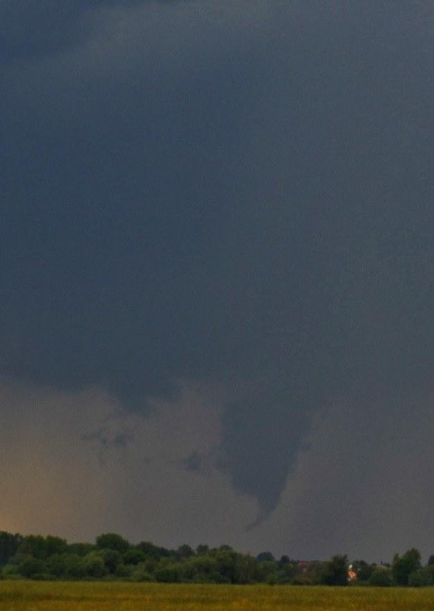 Tworzące się tornado /Gorąca Linia/ fot. gm.Golina /RMF FM
