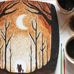 Tworzy niesamowite obrazy z… kawy!