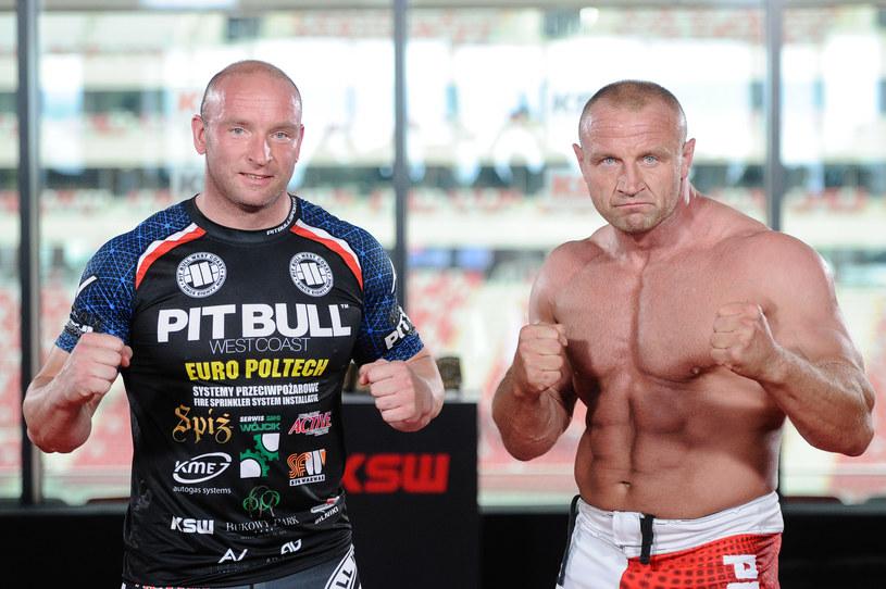 Tyberiusz Kowalczyk (L) i Mariusz Pudzianowski /Rafał Oleksiewcz /Newspix