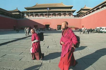 Tybetańscy mnisi /AFP