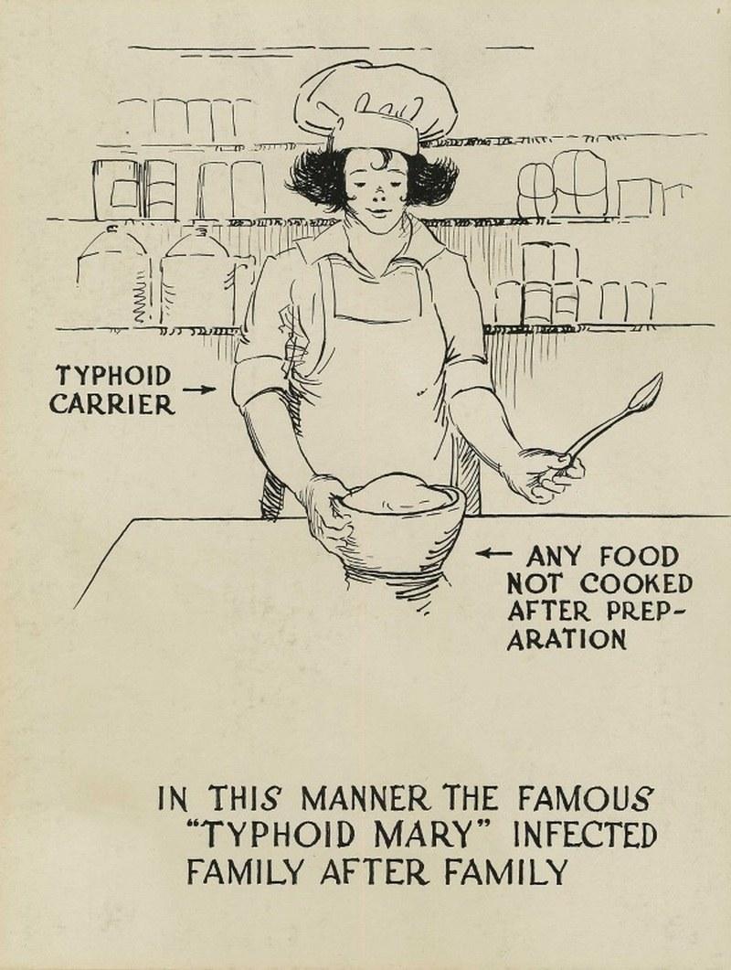 """""""Tyfusowa Mary"""" przy pracy (domena publiczna) /Ciekawostki Historyczne"""
