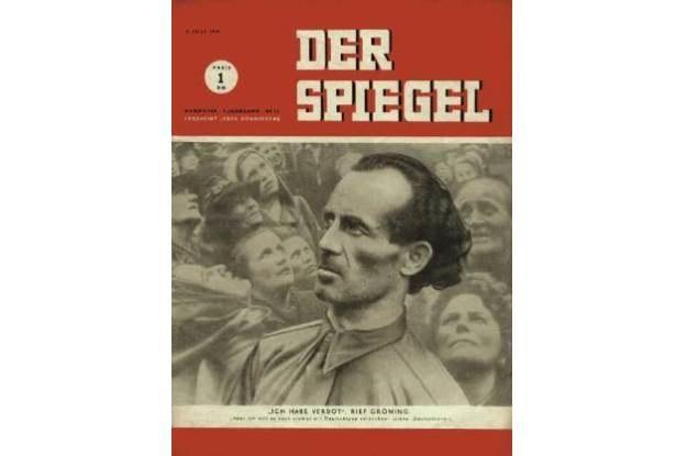 """Tygodnik """"Der Spiegel"""" (numer 28/1949), w którym znalazł się artykuł """"Wyższa matematyka na guzikach"""" /HeiseOnline"""