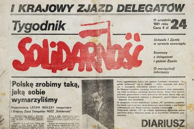 """""""Tygodnik Solidarność"""" miał nakład 500 tysięcy egzemplarzy /Daniel Dmitriew /Agencja FORUM"""