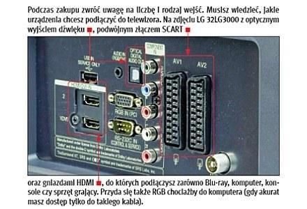 Tył telewizora dla niektórych jest czarną magią, jednak bez wejśc/wyjść ani rusz. | fot. PCF12/2008 /PC Format
