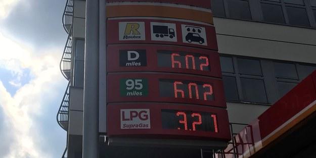 Tyle trzeba było dziś zapłacić za paliwo na jednej z warszawskich stacji /Maciej Sztykiel /RMF FM