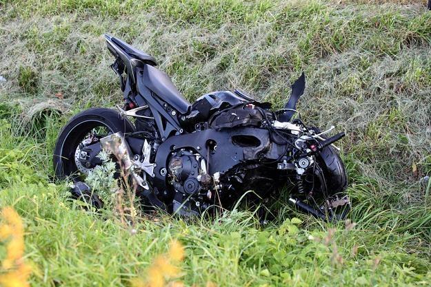 Tyle zostało z motocykla Wałęsy / Fot: Przemysław Szyszka /Reporter