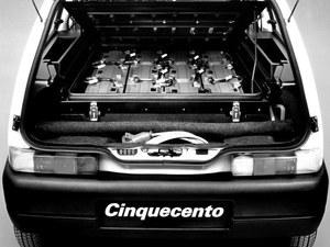 Tylną część kabiny wersji Elettra wypełniały akumulatory - ołowiowe lub niklowo-kadmowe. /Fiat