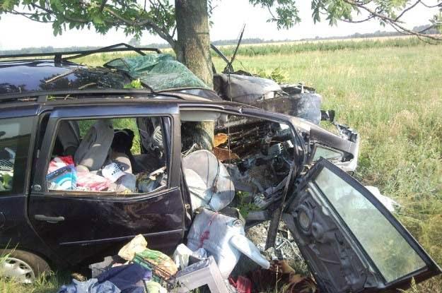 Tym autem czteroosobowa rodzina wracała z wakacji /