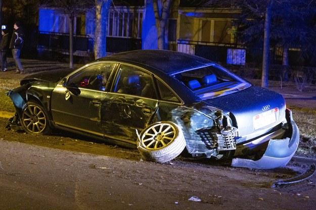 Tym samochodem pijany kierowca próbował uciekać przed policją. Nie udało się /Marek Maliszewski  /Reporter
