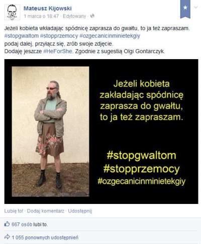 """Tym zdjęciem Mateusz Kijowski rozpoczął akcję """"Razem przeciwko kulturze gwałtu"""" /archiwum prywatne"""