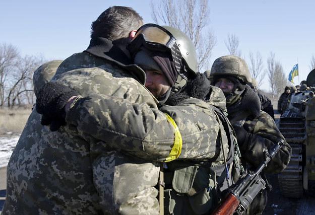 Tym żołnierzom udało się dotrzeć do Artemiwska fot. Anatolii Stepanov /AFP
