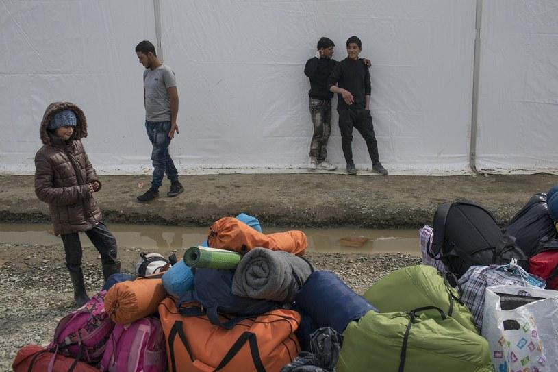 Tymczasowy oboz uchodzcow na granicy grecko-macedonskiej /MAREK BEREZOWSK /Reporter