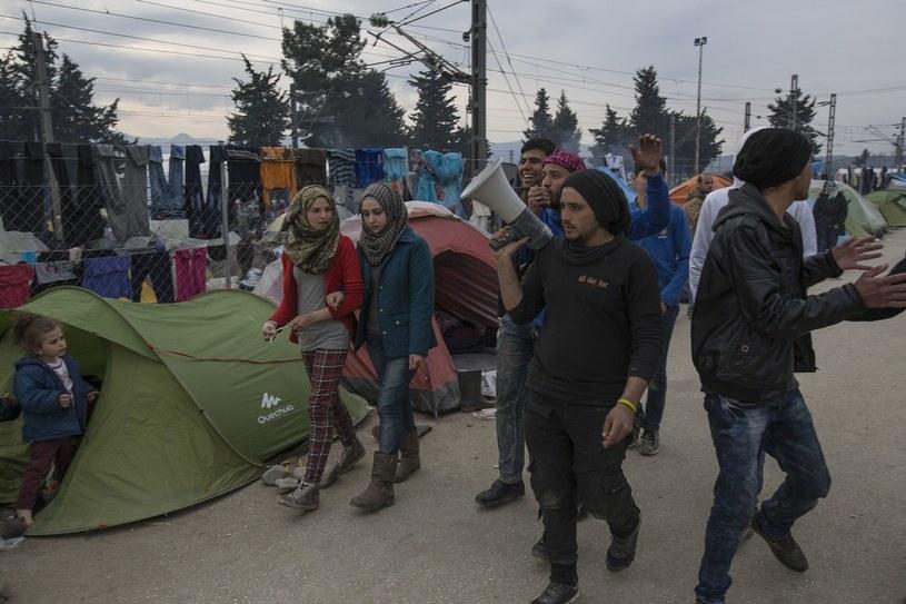 Tymczasowy oboz uchodzcow /Marek Berezowski /Reporter