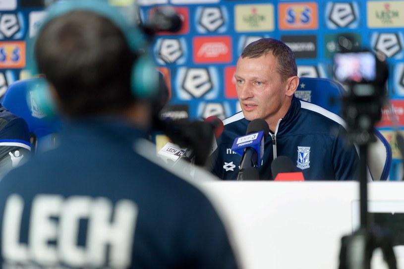 Tymczasowy trener Lecha Dariusz Żuraw /Jakub Kaczmarczyk /PAP