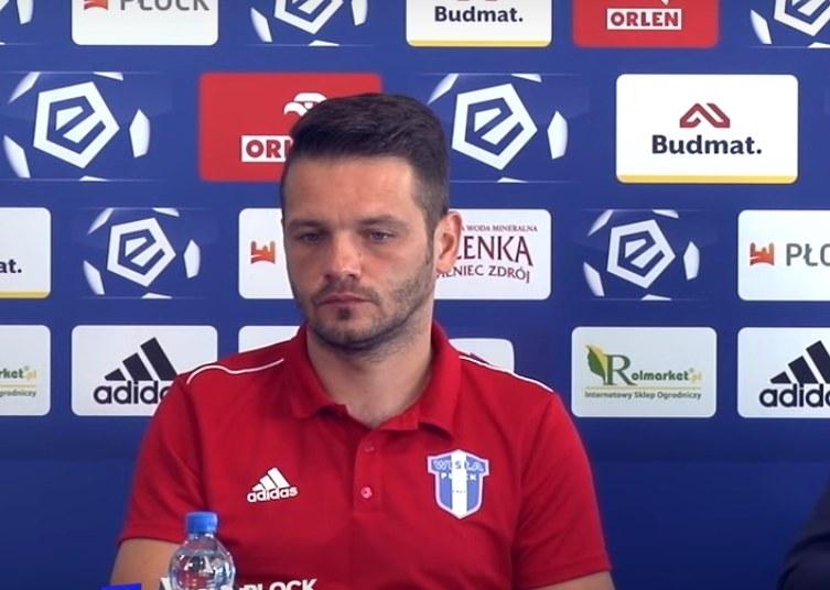 Tymczasowy trener Wisły Płock Patryk Kniat /INTERIA.PL