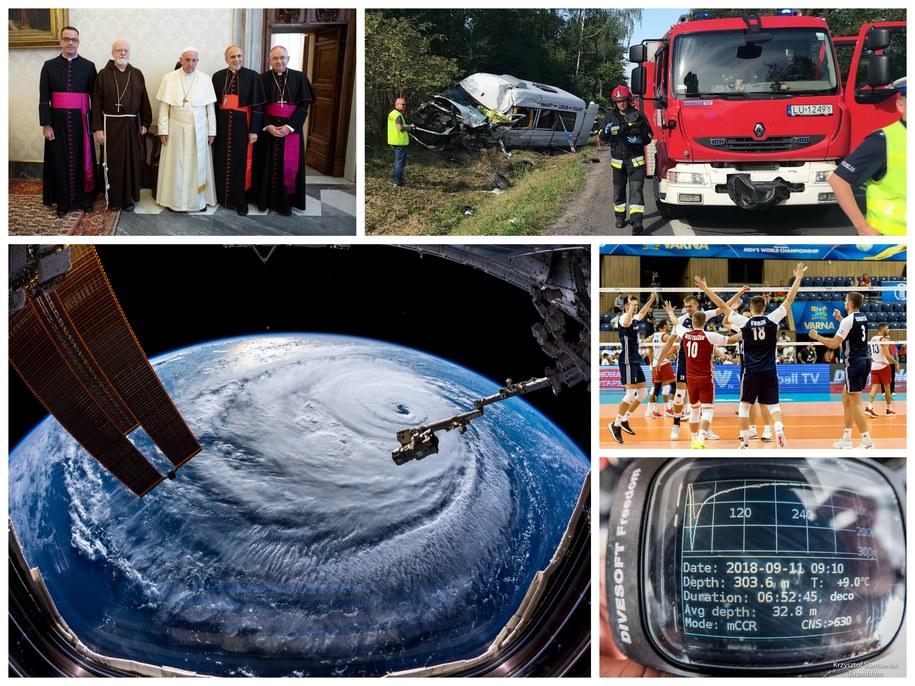 Tymi wydarzeniami żyła dziś Polska i świat /VATICAN MEDIA HANDOUT/Krzysztof Kot/ ALEXANDER GERST/ESA/NASA HANDOUT/ Maciej Kulczyński/Krzysztof Stawiarski Expedition /PAP/EPA
