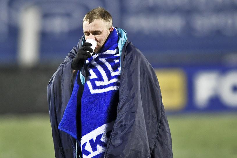 Tymoteusz Puchacz z Lecha Poznań w meczu Pucharu Polski /Marcin Bulanda / PressFocus / NEWSPIX.PL /Newspix