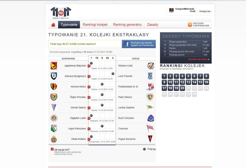 Typy Grzegorza Mielcarskiego na 21. kolejkę Ekstraklasy /INTERIA.PL