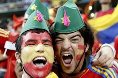 Tysiące kibiców dopingowały Hiszpanów i Francuzów w Doniecku!