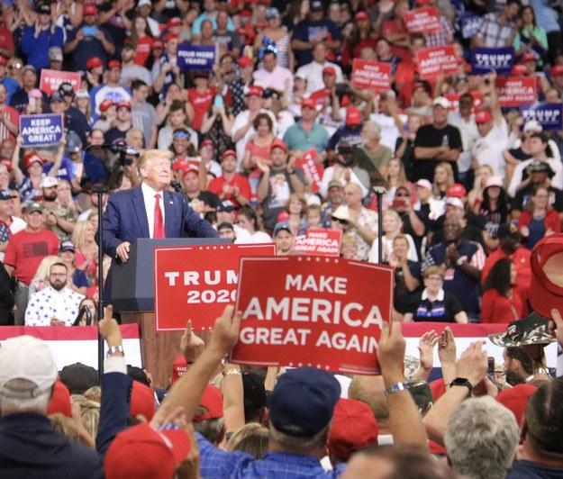 Tysiące osób chciały się dostać na wiec Donalda Trumpa /Paweł Żuchowski /RMF FM