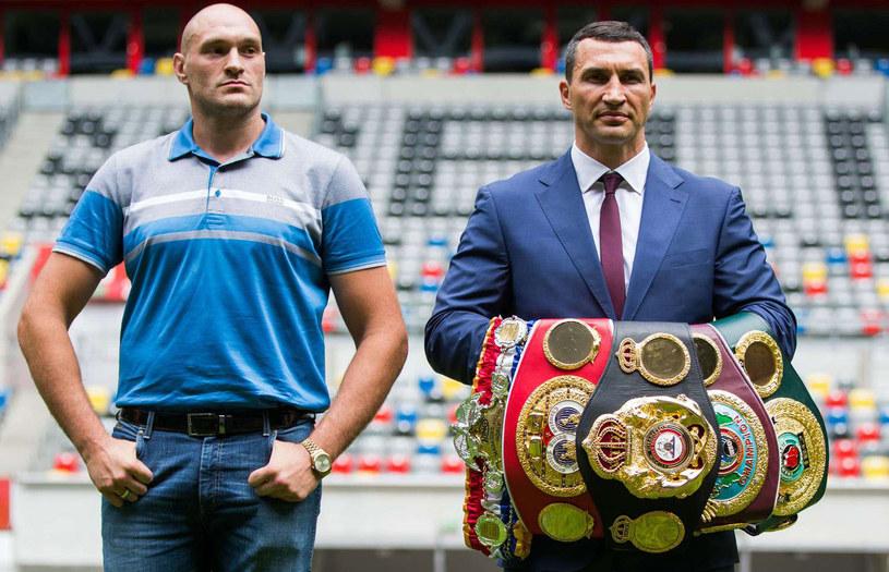 Tyson Fury i Władymir Kliczko /AFP