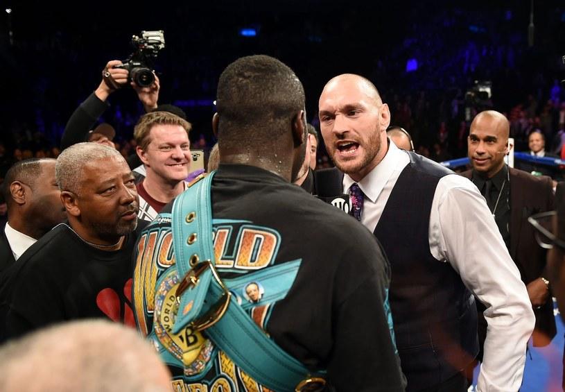 """Tyson Fury nazwał Deontaya Wildera """"leszczem"""" /AFP"""