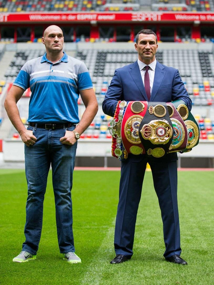 Tyson Fury (z lewej) i Władimir Kliczko /AFP