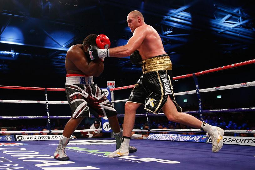 Tyson Fury (z prawej) w walce Dereckiem Chisorą /Julian Finney /Getty Images
