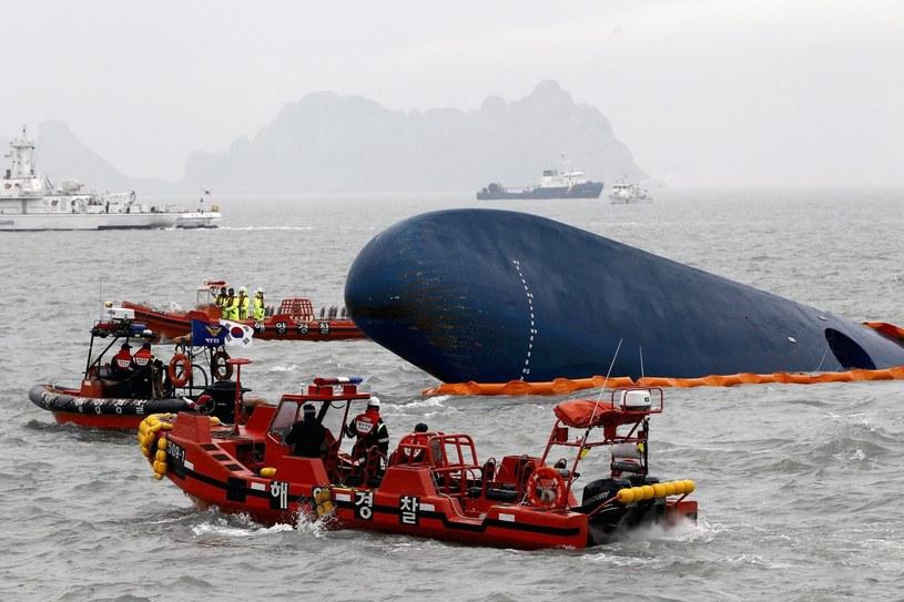 U wybrzeży Korei Południwej trwa akcja ratunkowa /PAP/EPA