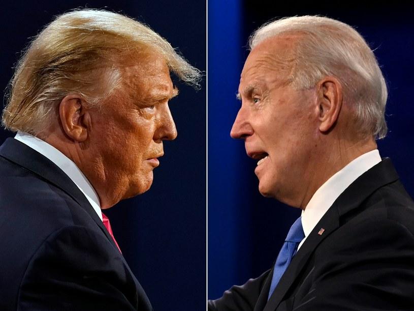 Ubiegający się o reelekcję Donald Trump i jego przeciwnik, demokrata Joe Biden /JIM WATSON, MORRY GASH  /AFP