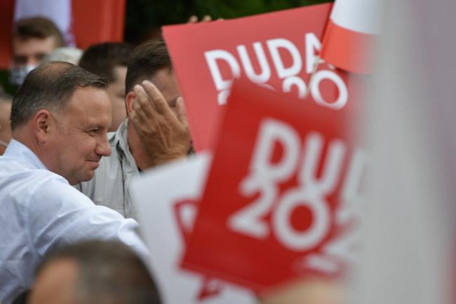 Ubiegający się o reelekcję prezydent Andrzej Duda /Przemysław Piątkowski /PAP