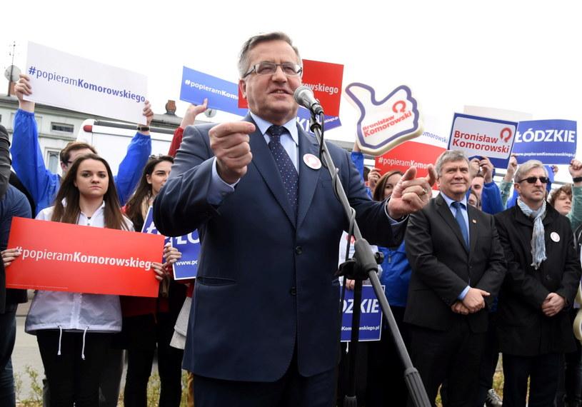 Ubiegający się o reelekcję prezydent Bronisław Komorowski /Grzegorz Michałowski /PAP