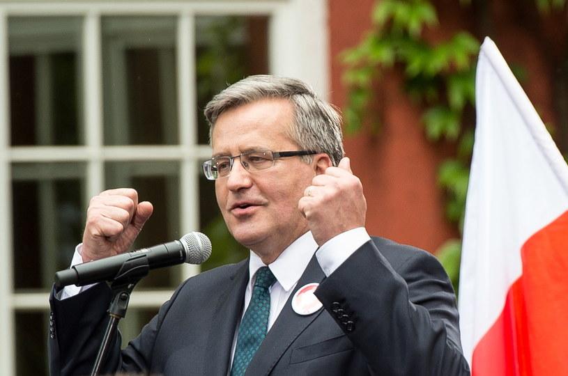 Ubiegający się o reelekcję prezydent Bronisław Komorowski /Maciej Kulczyński  (PAP)  /PAP