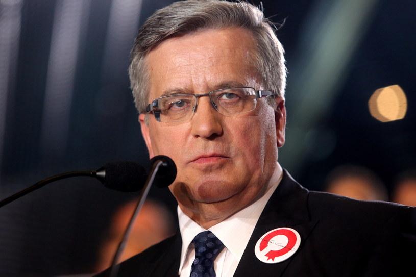 Ubiegający się o reelekcję prezydent Bronisław Komorowski /Marek Zimny /PAP