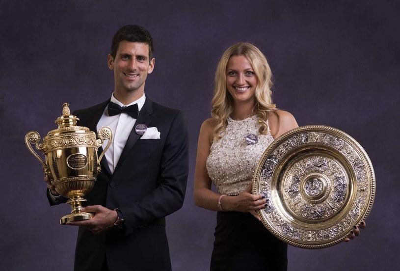 Ubiegłoroczni zwycięzcy: Novak Djoković i Petra Kvitova /AFP