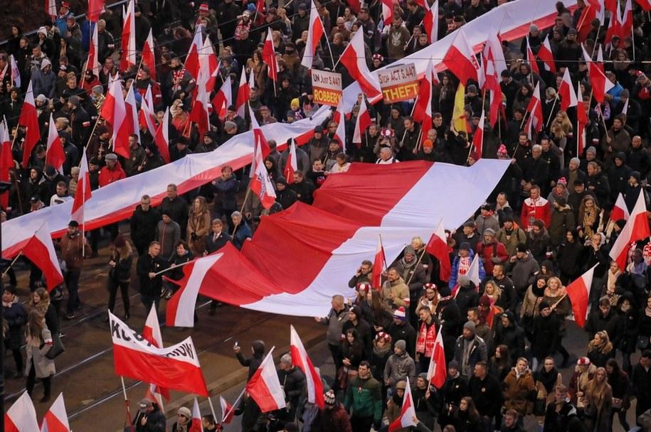 Ubiegłoroczny Marsz Niepodległości /Paweł Supernak /PAP