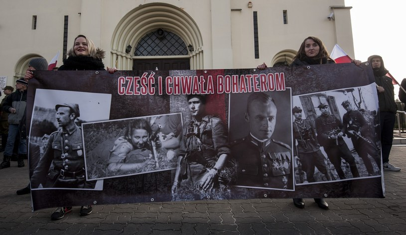 Ubiegłoroczny marsz upamiętniający żołnierzy wyklętych /Kosc/AGENCJA WSCHOD/REPORTER /East News