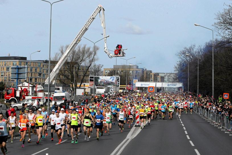 Ubiegłoroczny półmaraton w Poznaniu /Łukasz Cynalewski /